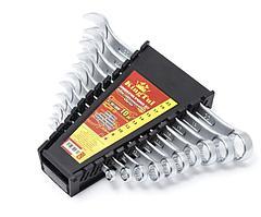 KT-3010MP Kingtul Набор ключей комбинированных 10 предметов (6,8,10,12, 13,14,15,17,19,22мм) в пласт. держателе KINGTUL KT-3010MP