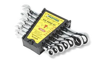 PA-3107M Partner Набор ключей комбинированных трещоточных 7 предметов(8,10,12,13,14,17,19мм) Partner PA-3107M