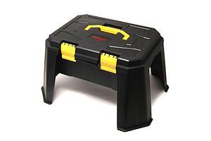 """WMC tools Набор инструментов 65 предметов 1/2""""(8-32мм; ключи:8-19мм;шарнирно-губцевый инстр.;отвертки+лопата 9в1,перчатки; кейс-слесарный стул max"""