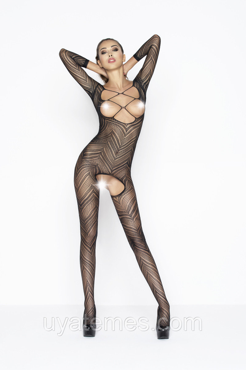 Костюм-сетка Passion Erotic Line, чёрный, OS