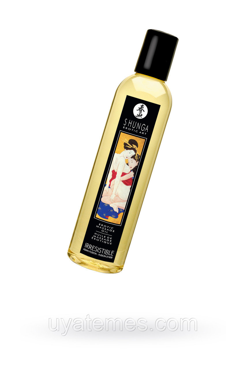 Масло для массажа Shunga Irresistible «Asian Fusion», натуральное, возбуждающее, с ароматом азиатских фруктов,