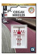 Игла двойная универсальная ORGAN TWIN 130/705H №80/4,0 (1 шт) (Блистер)