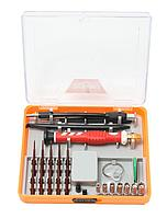 BM-30314122 BaumAuto Отвертка ювелирная, с гибким удлинителем,пинцетом, комплектом бит и головок  для точных работ (22 предмета) в пластиковом
