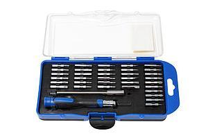 PA-AD23036 Partner Отвертка ювелирная с удлинителем и набором бит, 36 предметов, в пластиковом футляре Partner PA-AD23036