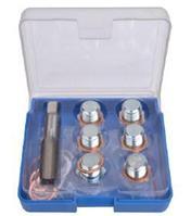 ROCKFORCE Набор инструментов для восстановления резьбы сливного отверстия поддона: M17х1,5мм 13 предметов, в футляре. ROCKFORCE RF-917G17