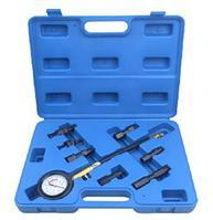 ROCKFORCE тестер компрессии для бензиновых двигателей(0-21bar)8 предметов в кейсе. ROCKFORCE RF-909G1