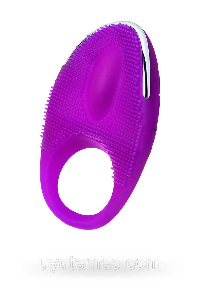 Виброкольцо с ресничками перезаряжаемое JOS  RICO, Силикон, Фиолетовый, 9 см