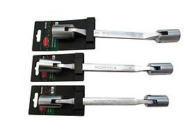 ROCKFORCE Ключ торцевой шарнирный двухсторонний 8х9мм на пластиковом держателе ROCKFORCE RF-7520809