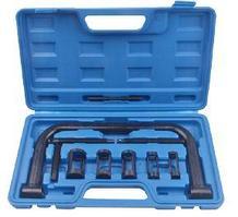 ROCKFORCE Рассухариватель клапанов струбцинного типа 10 предметов, (сменные толкатели: 16, 19, 23, 25, 30мм), в кейсе ROCKFORCE RF-62110