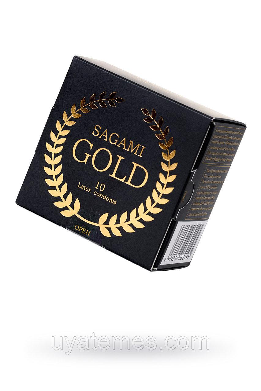 Презервативы латексные Sagami Gold №10, 18 см