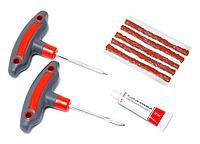 KT-904T8B Kingtul Набор инструментов для ремонта шин 8 предметов(шило и протяжка с прорезиненными рукоятками,шнуры,клей), в блистере KINGTUL KT-904T8B