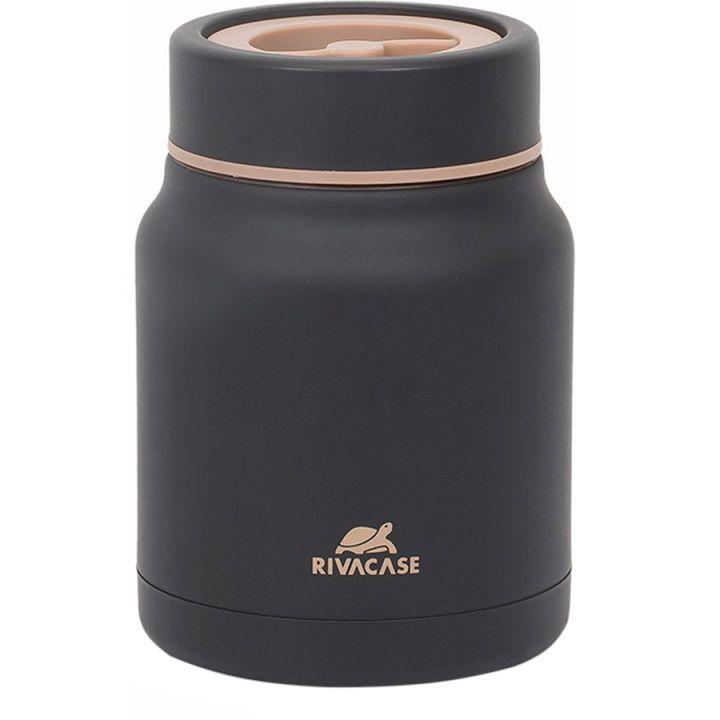Термос пищевой RIVACASE Food jar Black (90331BK) 500мл