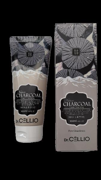 Dr.Cellio Nature Charcoal Foam Cleansing Пенка для умывания с Древесным Углем 100мл.