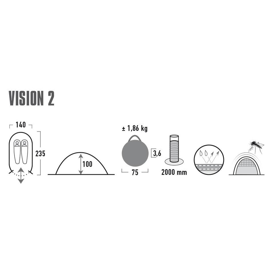 Палатка HIGH PEAK VISION 2 - фото 2