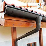 УГОЛ ЖЕЛОБА ВНЕШНИЙ 90° AQUASYSTEM покрытие PURAL MATT коричневый        тел./watsapp +7 701 100 08 59, фото 4