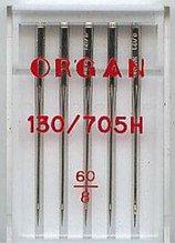 Иглы универсальные ORGAN Universal 130/705H (5 шт) (Блистер) №60
