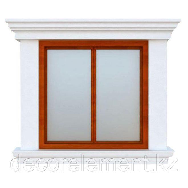 Декоративное обрамление окон на фасаде дома ОК-3