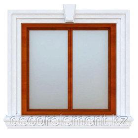 Обрамление окон на фасаде дома ОК-7