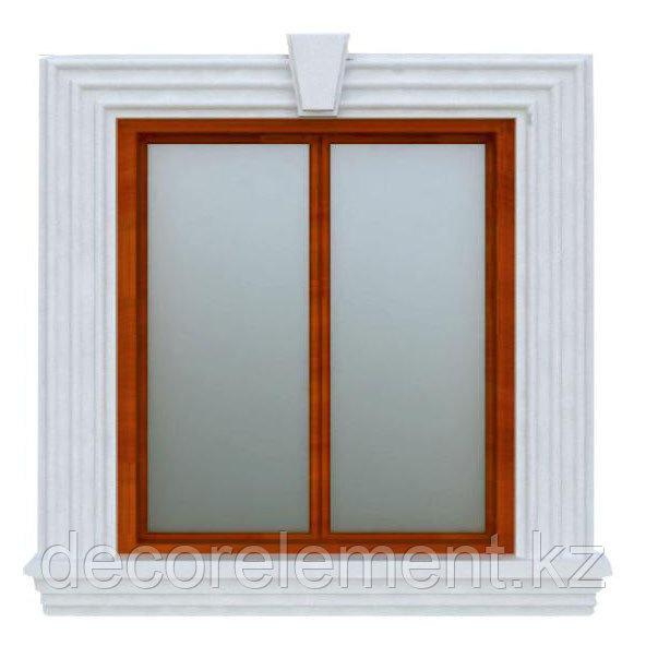 Обрамления окон на фасаде из пенопласта ОК-10