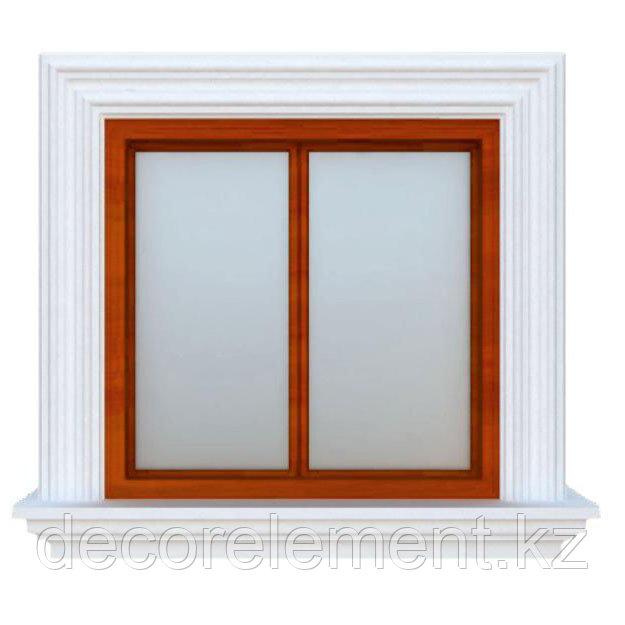 Обрамление окон на фасаде дома из пенополистирола ОК-18