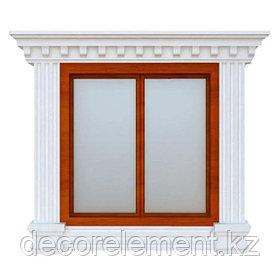 Обрамления окон на фасаде из пенопласта ОК-20