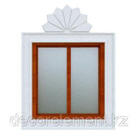 Декоративное обрамление окон на фасаде дома ОК-35