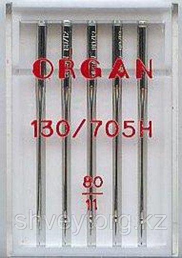 Иглы универсальные ORGAN Universal 130/705H (5 шт) (Блистер) №80