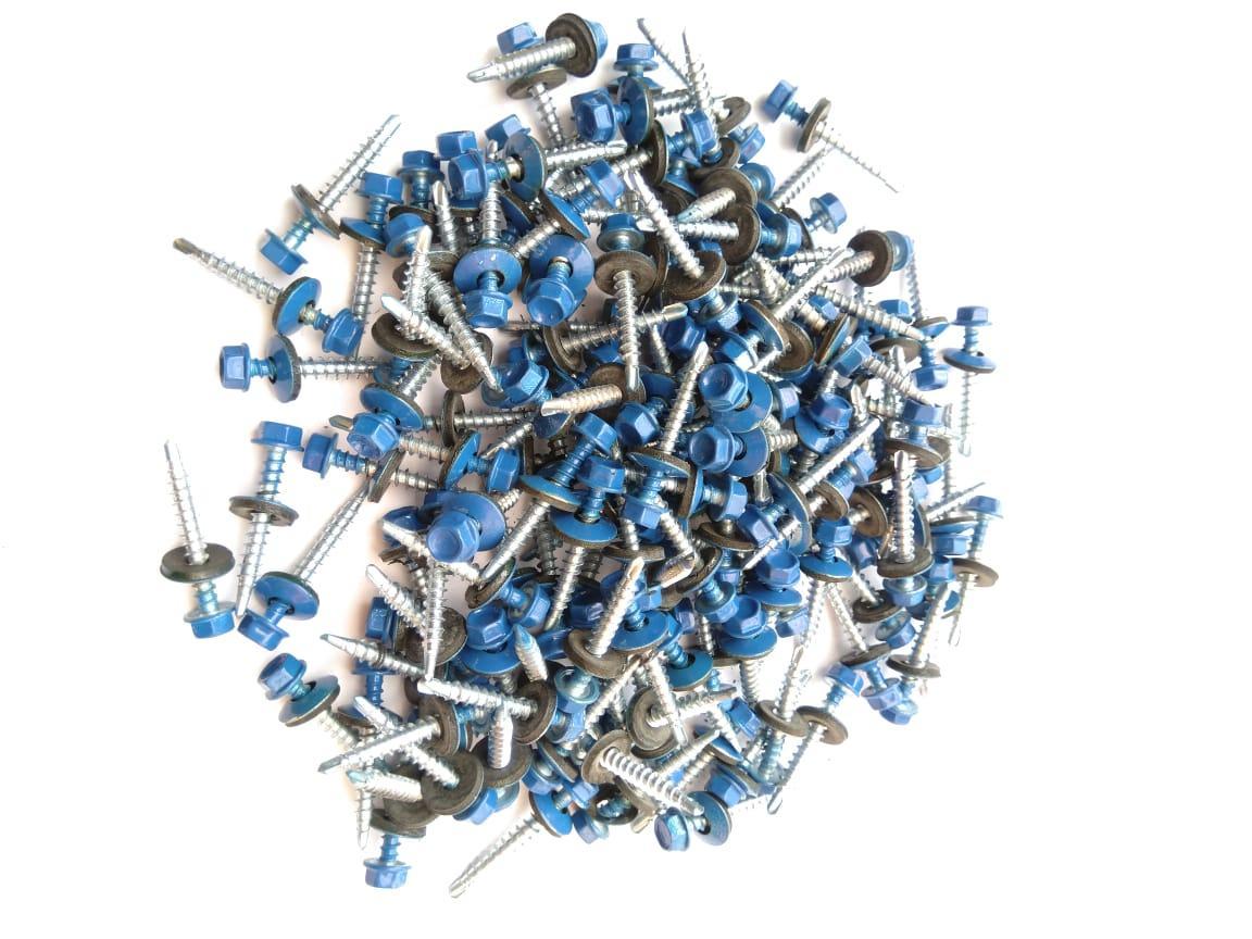 Саморез кровельный 4,8x30 мм (металл-дерево) крашенный  RAL 5005 (синий)