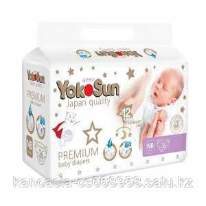 YokoSun Подгузники YokoSun Premium NB 36 шт/уп (до 5 кг).
