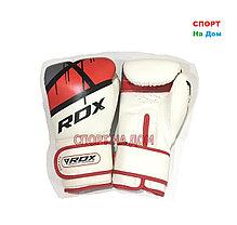 Боксерские перчатки RDX (кожа) 10 OZ белые, фото 2