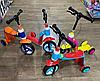 Детский самокат-беговел трансформер 2 в 1 с ручным тормозом
