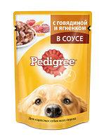 Pedigree влажный корм для взрослых собак всех пород с говядиной и ягненком в соусе - 100 г