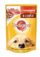 Pedigree влажный корм для взрослых собак всех пород с говядиной в соусе- 100 г