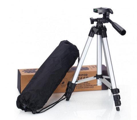 Штатив в сумке-переноске для камеры и телефона TRIPOD 3110 со встроенным уровнем и 3D-головкой, фото 2