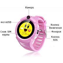 Умные детские часы-телефон с камерой «Smart Baby Watch» Q610 c GPS-приемником (Голубой), фото 2