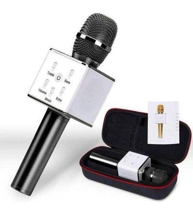 Караоке-микрофон беспроводной TUXUN Q7 со встроенной bluetooth-колонкой (Черный), фото 2
