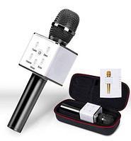 Караоке-микрофон беспроводной TUXUN Q7 со встроенной bluetooth-колонкой (Черный)