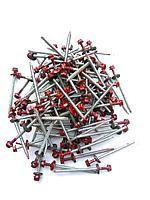 Саморез кровельный 4,8x70 мм (металл-дерево) крашенный RAL 3005 (красный), фото 1