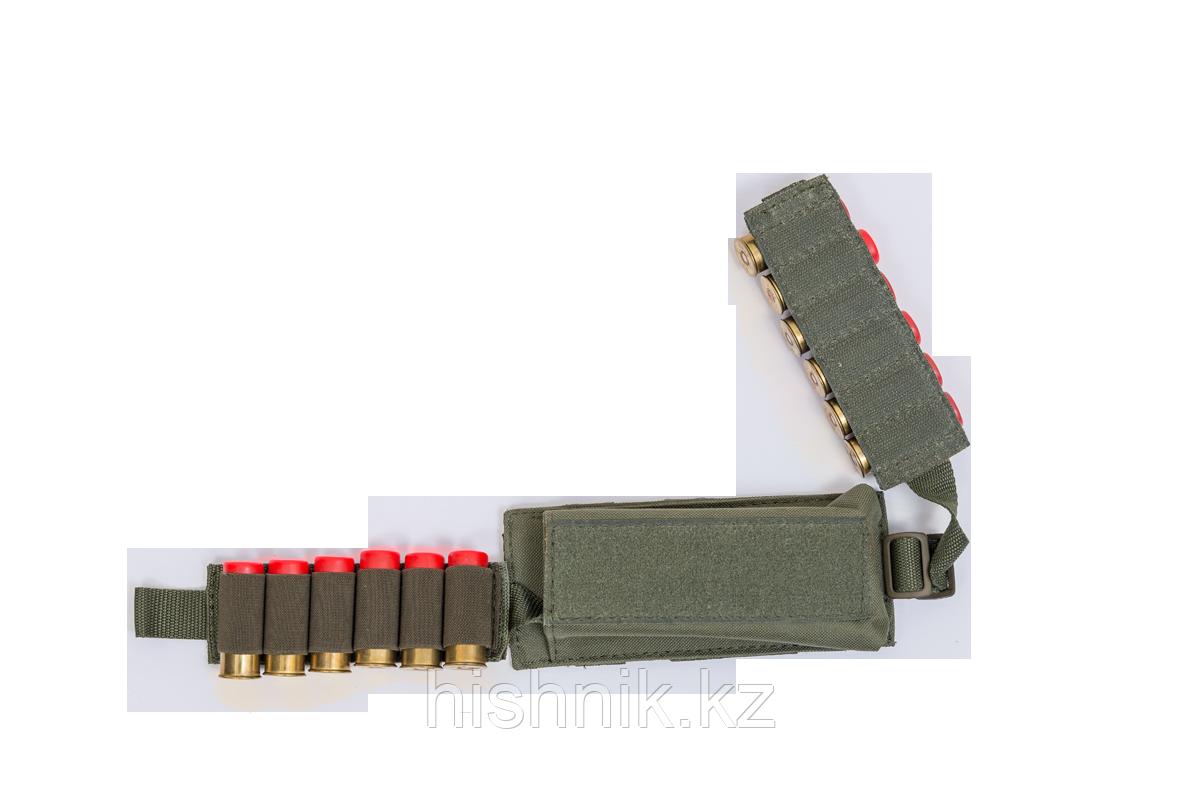 Подсумок-патронташ на 12 патронов 12,16,20 калибр Модуль / ткань синтет. / олива