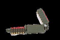 Подсумок-патронташ на 12 патронов 12,16,20 калибр Модуль / ткань синтет. / олива, фото 1