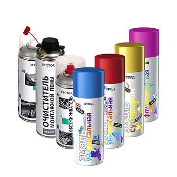 """Краски, очистители, антикоры и защита поверхности """"ЭТЮД"""", RECTOR"""