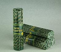 Свечи золочёные зеленые спаси и сохрани . Длина свечи 190мм, фото 1