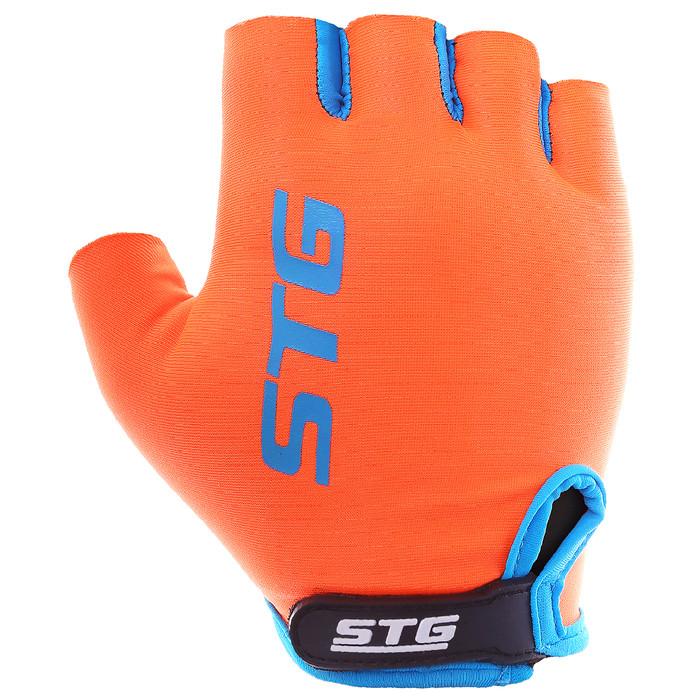 Перчатки велосипедные STG AL-03-325, размер XL, цвет оранжево-серые