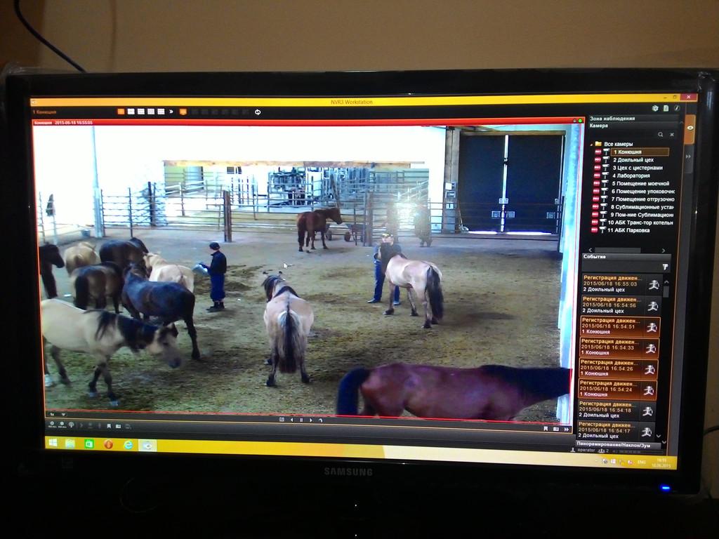 Система IP видеонаблюдения и автоматической пожарной сигнализации на заводе по производству порошка из кобыльего молока
