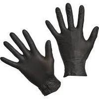 Перчатки S Ю 100шт нитрил черные Unex
