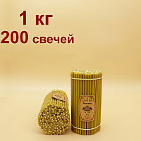 "Свечи ""Медовые"" пачка 1 кг горят 1 час от 30 тенге. Длина свечи 185мм, фото 1"