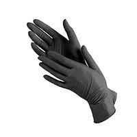 Перчатки S 100шт нитрил черные MediOk