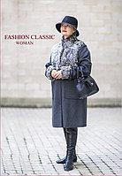 Кашемировое женское пальто с смехом, осень весна (цвет темно-серый)