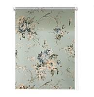 Рулонная штора «Розарий», 180х175 см, цвет голубой