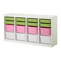 стеллаж для игрушек ТРУФАСТ белый/разноцветный Икеа, IKEA